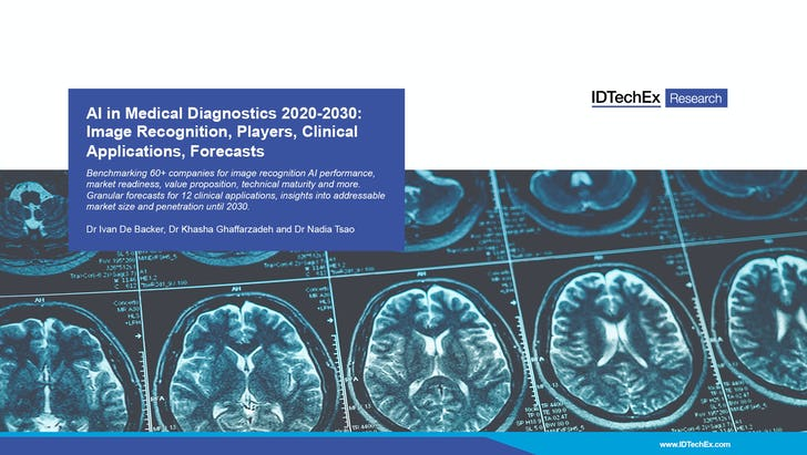 AI in Medical Diagnostics 2020-2030: Image Recognition, Players, Clinical Applications, Forecasts.